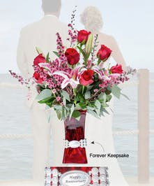 Vase of Life - Happy Anniversary - Floral Bouquet - Fischer Flowers