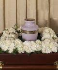 Classic White Square Urn Wreath