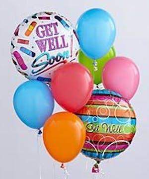 Get Well Balloon Bunch