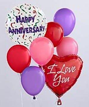 Happy Anniversary Balloon Bunch