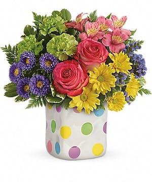 Easter Flower Delivery - Rose & Carnations Bouquet - Egg Harbor Township