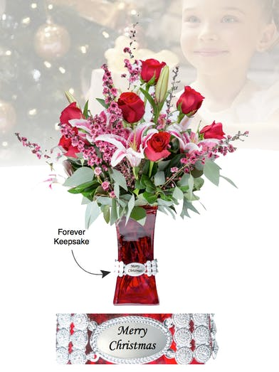 Vase of Life - Merry Christmas - Floral Bouquet - Fischer Flowers