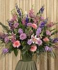 Pastel Funeral Basket
