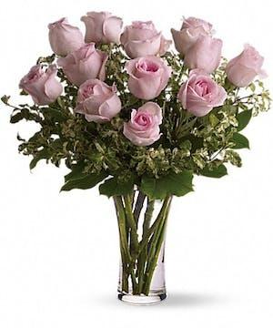 A Dozen Light Pink Roses