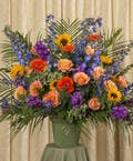 Bright Funeral Basket