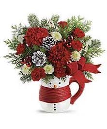 Snowman Mug Bouquet