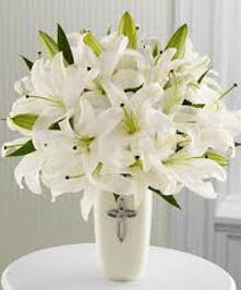 Featuring beautiful white lilies