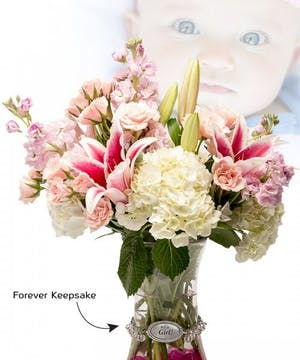 Vase of Life - It's a Girl - Floral Bouquet - Fischer Flowers