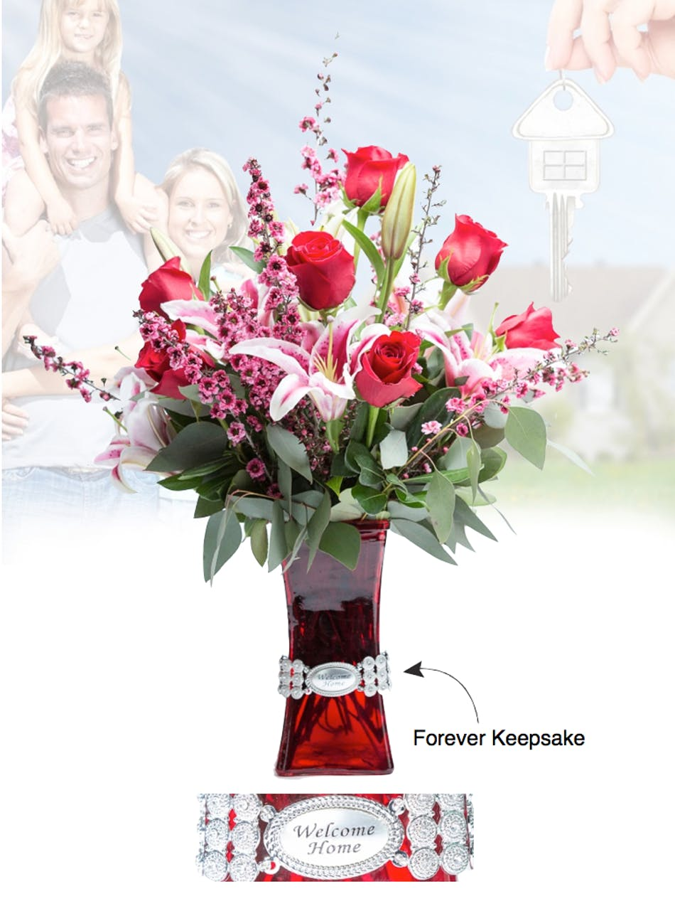Vase Of Life Welcome Home Floral Bouquet Fischer Flowers