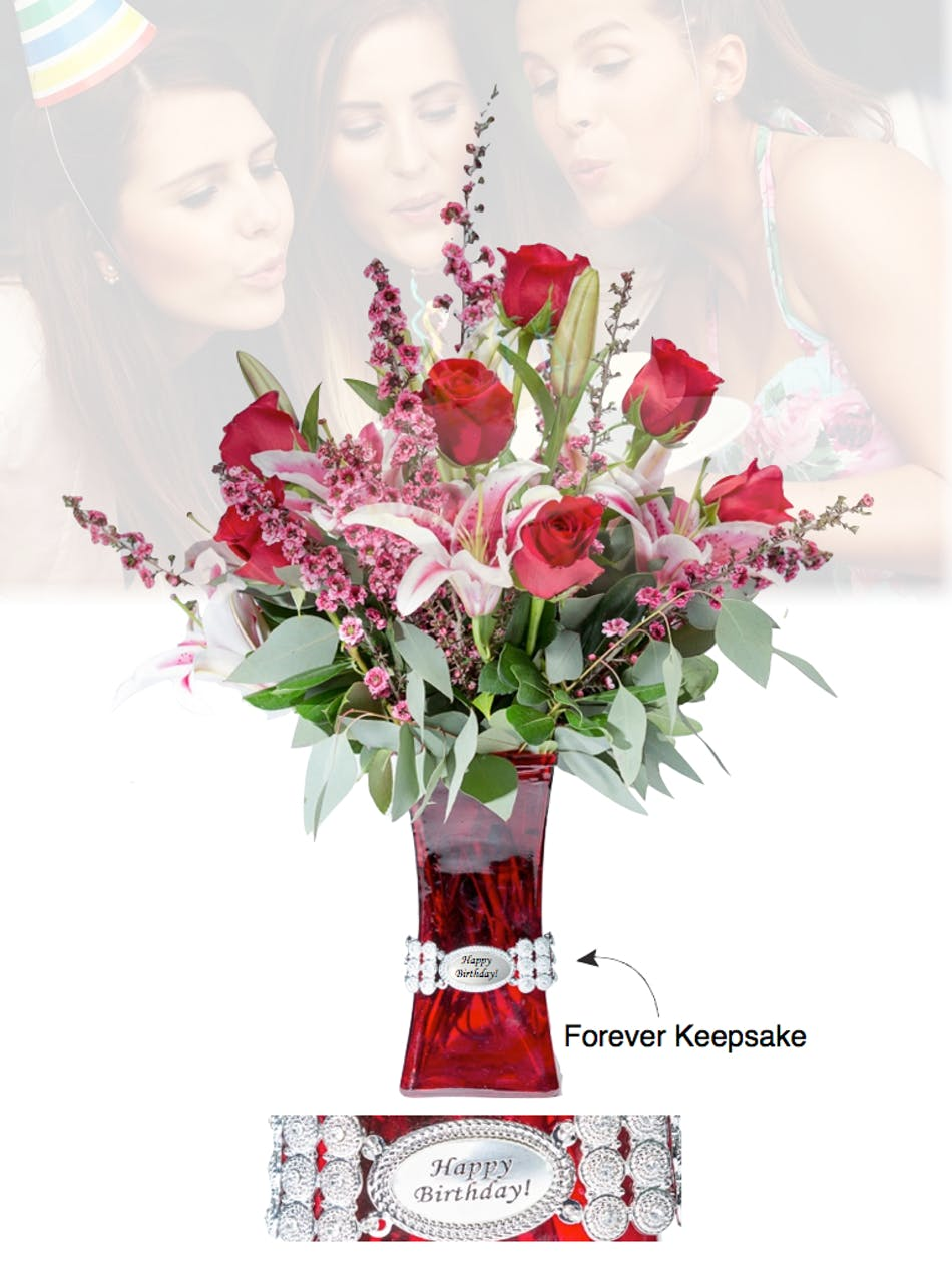 Vase of life happy birthday floral bouquet fischer flowers izmirmasajfo