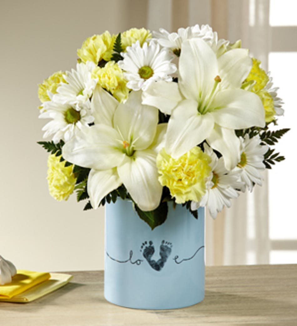 Tiny Miracles New Baby Boy Bouquet - Atlantic City Florist - Fischer ...