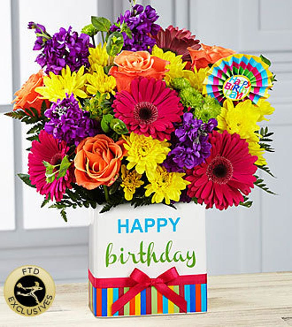 Birthday brights bouquet atlantic city florist fischer flowers available for nationwide delivery izmirmasajfo