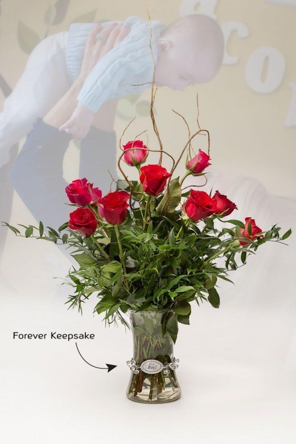 Vase of life its a boy floral bouquet fischer flowers izmirmasajfo